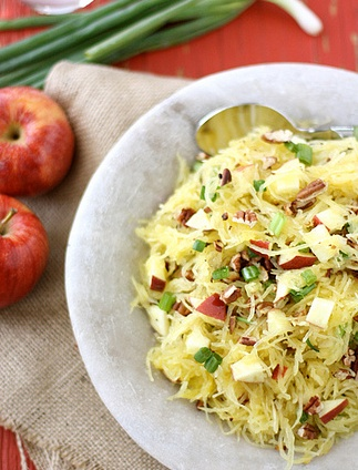 Spaghetti Squash with Apples and Toasted Pecans! Great refreshing meal ...