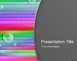 Colorful presentation template free color lines powerpoint template with bubbles is a colorful style toneelgroepblik Images
