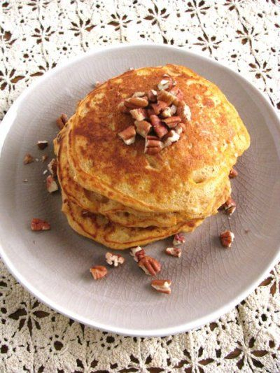 Sweet Potato Pie Pancakes for One by Healthy Food For Living