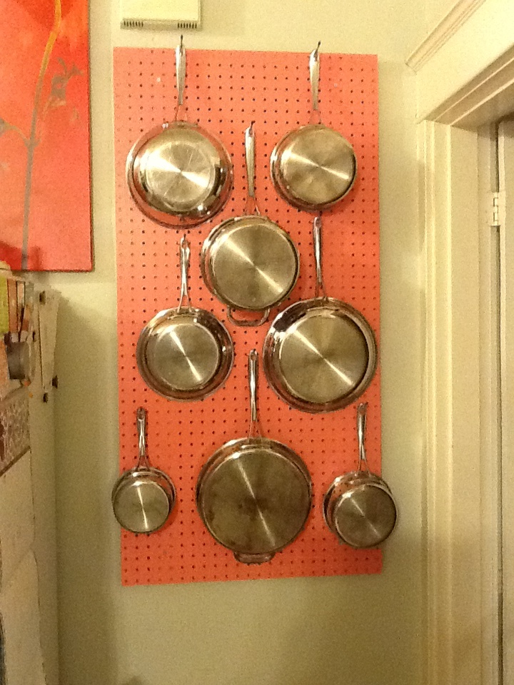 My new pegboard pot rack! | Mid Century passion | Pinterest
