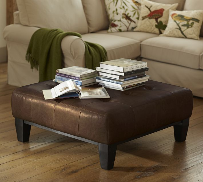 coffee table ottoman pottery barn for the home pinterest