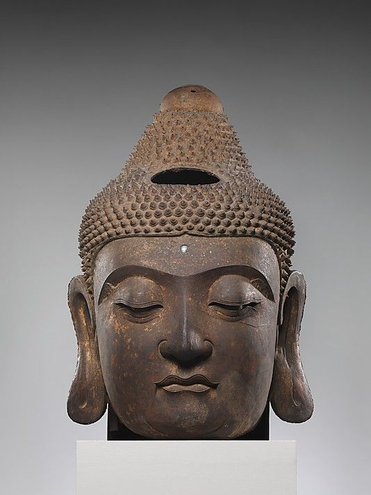 Head of Buddha    Period:      Ming dynasty (1368–1644)  Date:      ca. 16th century  Culture:      China  Medium:      Iron, piece-mold cast