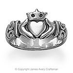Something about an Irish Claddagh ring makes an engagement seem much more real!