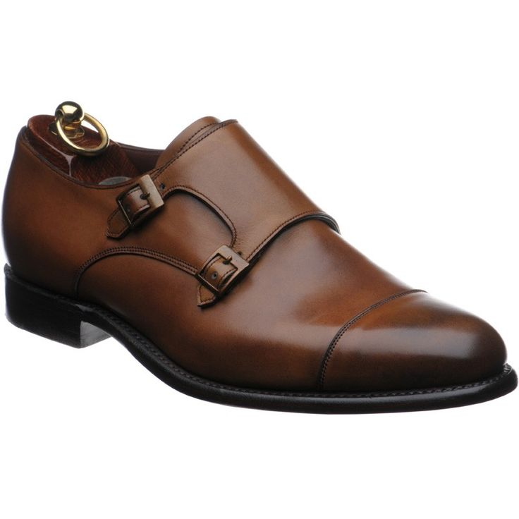 Herring double monk strap shoes