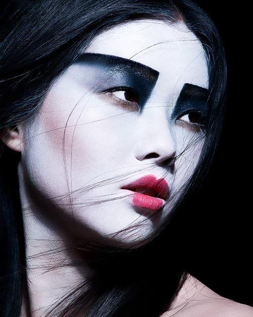 Makeup Eyeshadow Blush Geisha Model Madame