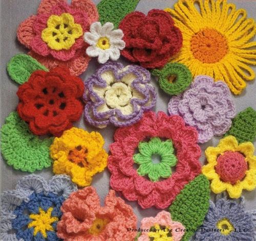 Crochet Flower Embellishment Pattern Dancox For