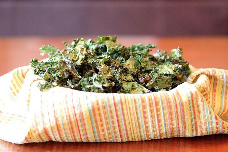 Baked Crispy Garlic Kale Chips | Delish! | Pinterest