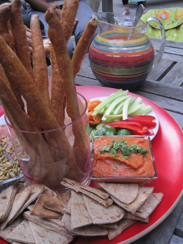 Smokey roasted red pepper and white bean dip. Great make-ahead ...