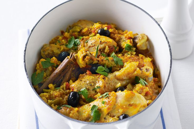 Spanish chicken and rice | food ideas | Pinterest