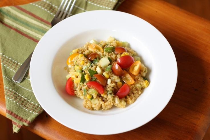 quinoa_salad_tomato_corn_cucumber | Meals | Pinterest
