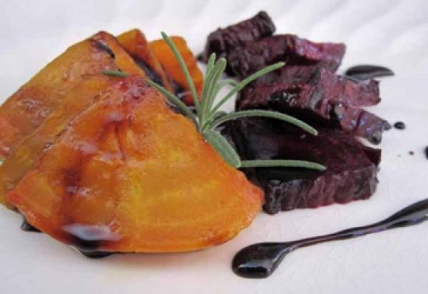 Roasted beets are so good with a little rosemary. Top it off with a ...