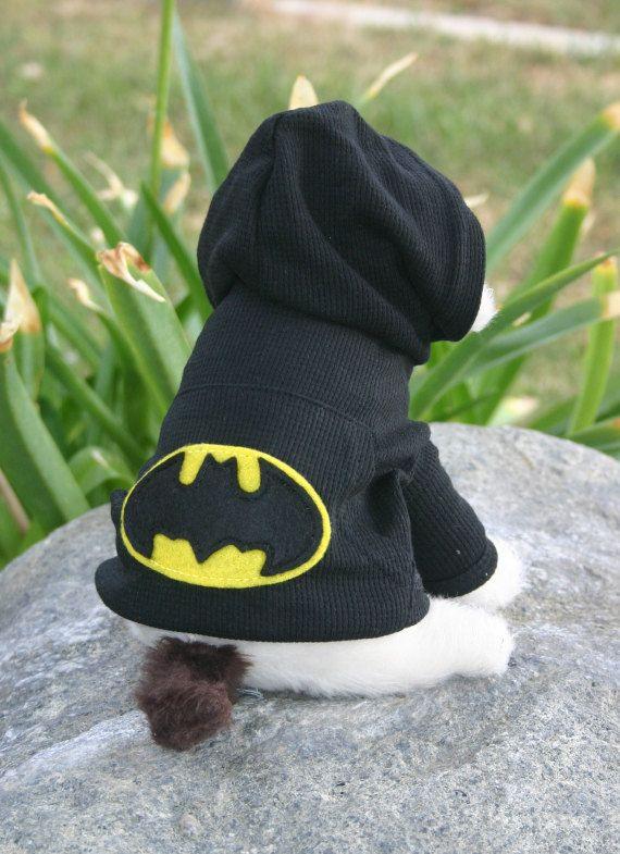 Doggie Hoodie with Felt Embellishment by TheFeltFrog on Etsy, $15.00