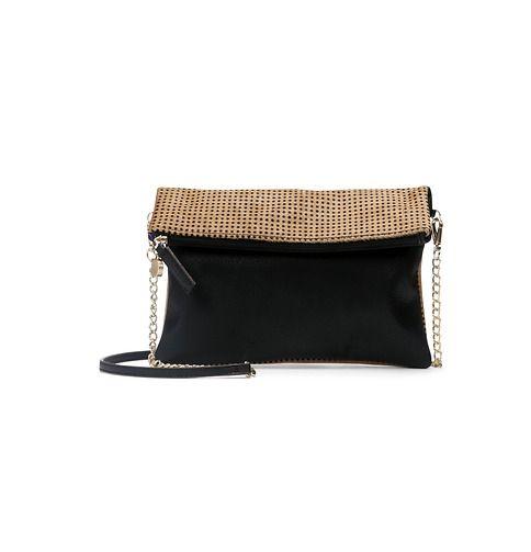 Dotted Haircalf Foldover Crossbody Bag | Loft