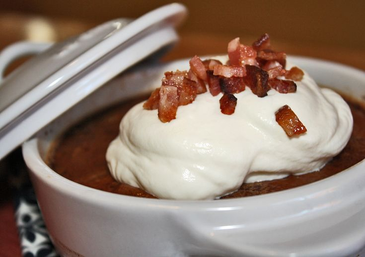 SRC Creamy Mexican Hot Chocolate Pudding with Candied Bacon and Maple ...