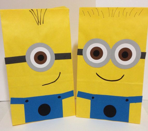 Despicable Me  Minion inspired birthday party/treat bags