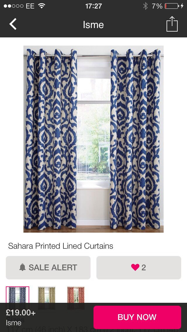 Ikat curtains blue | My blue phase.... | Pinterest