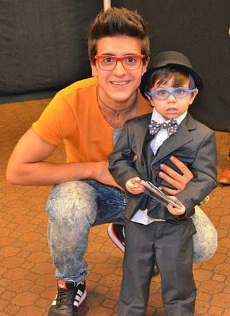 Piero with his darling look alike Vincenzo, what a doll!