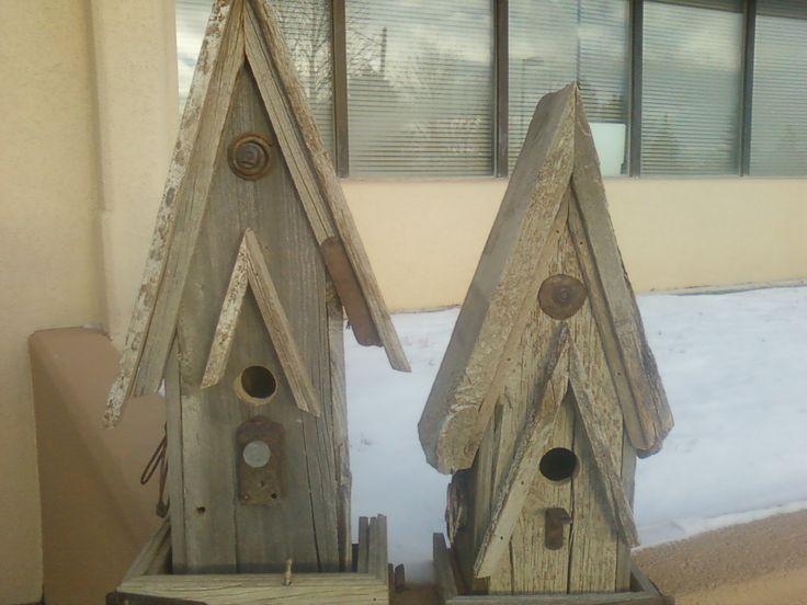Barn wood bird houses reclaimed lumber ideas pinterest - Old barn wood bird houses ...