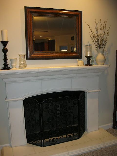 How To Arrange A Simple Mantel For The Home Pinterest