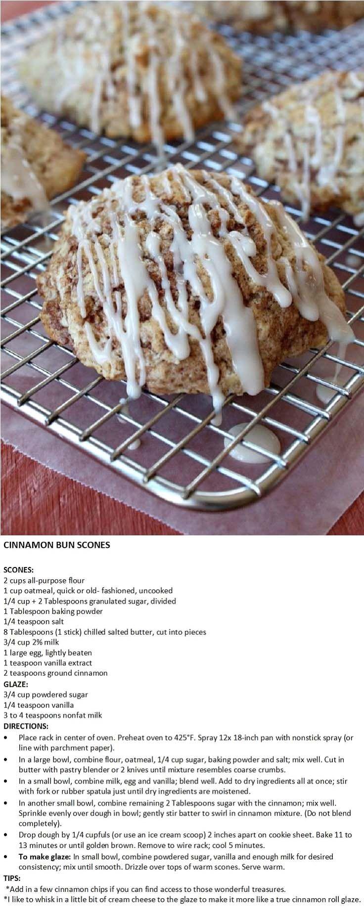 Cinnamon Bun Scones | Tea and Scones | Pinterest