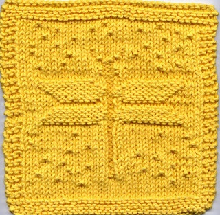 DRAGONFLY KNITTED DISHCLOTH PATTERN Free Knitting and Crochet Patterns