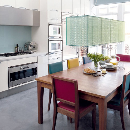 Colorful Kitchen Chairs: Multi-colored Dining Chairs