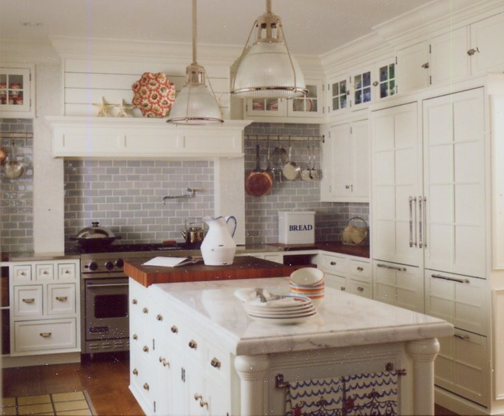 Light Gray Subway Tile Backsplash For The Home Pinterest