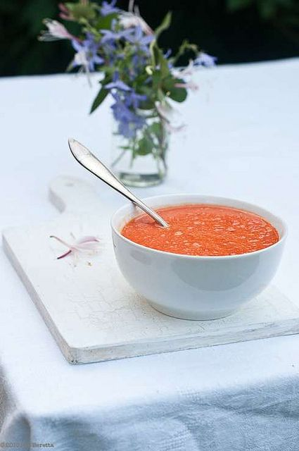 Hot Red Bell Pepper and White Bean Soup | Soups | Pinterest