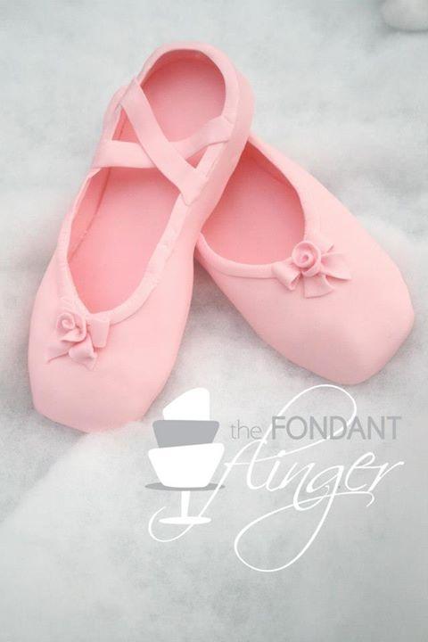 fondant ballerina slippers
