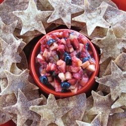 Fruit Salsa and Cinnamon Chips | If only I were any good at cooking ...