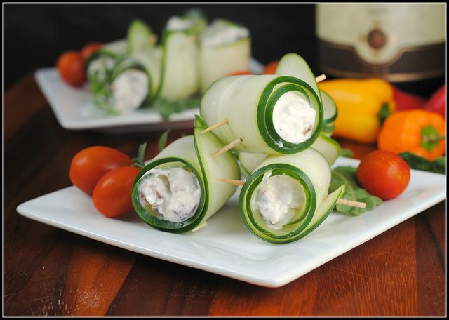 Cucumber Feta Rolls | To Cook! | Pinterest