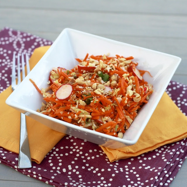 Peanut, Carrot, and Cabbage Slaw #thesweetslife
