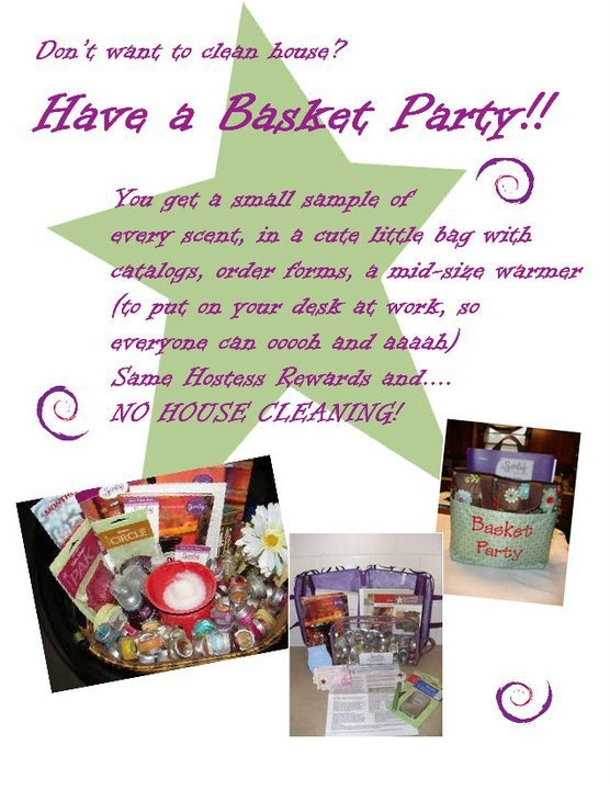 Basket parties no mess no fuss ask me how scentsibly scentsy