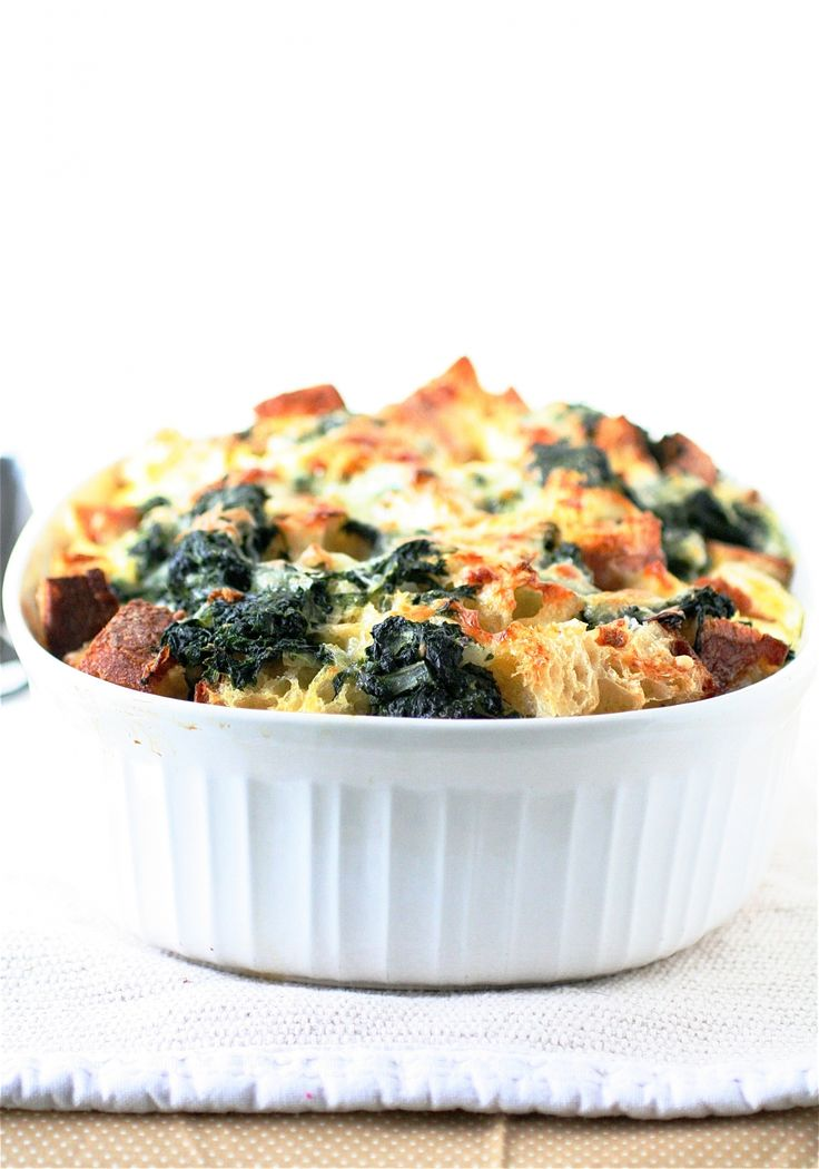 Cheese and Spinach Strata | Decadent delights... | Pinterest