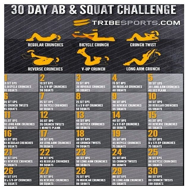 Ab And Squat Challenge | New Calendar Template Site
