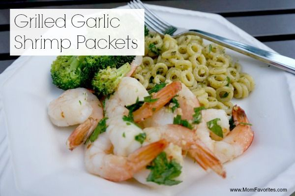 Grilled Garlic Shrimp Packets (like shrimp scampi on the grill)
