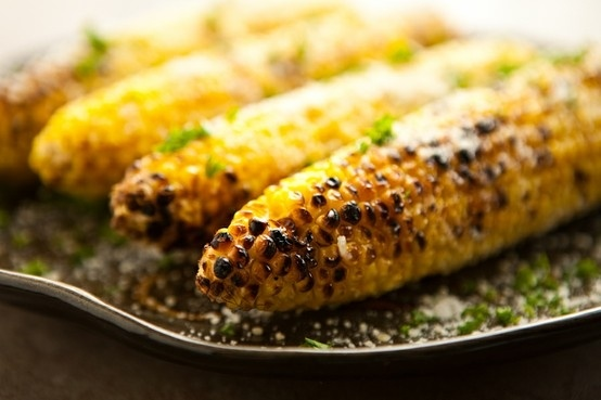 Parmesan grilled Corn | CORN on the Cob | Pinterest