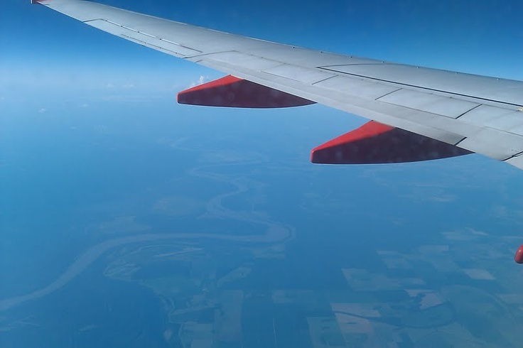 Sydney took this picture on our flight to San Antonio!!  I love it!!