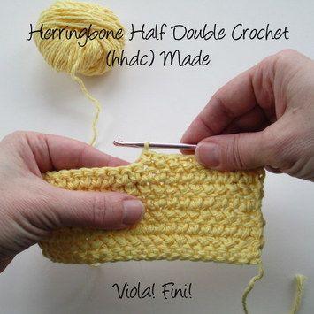 Crochet Stitch Herringbone : Learning the Herringbone Half Double Crochet - Crochet Nirvana