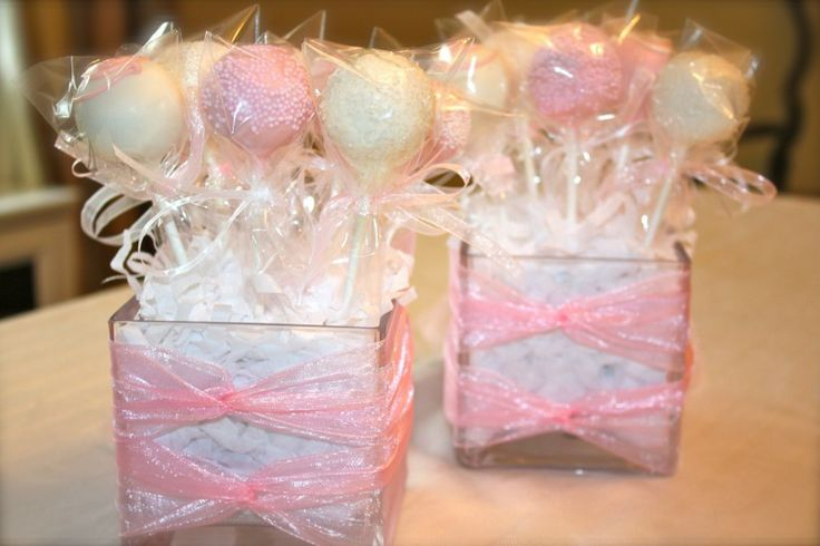 Cake Pop Centerpieces For Baptism : Cake Pop Centerpieces - Back View Wedding Pinterest