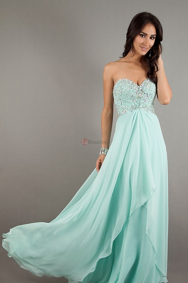 A Line Sweetheart Chiffon Floor Length Open Back online shop affordable for fashion