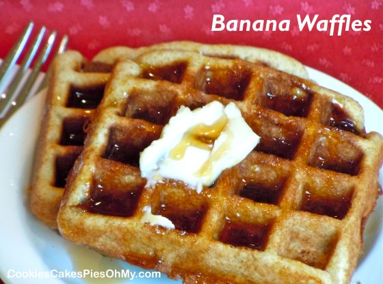 Banana Waffles | Bed & Breakfast Recipes | Pinterest