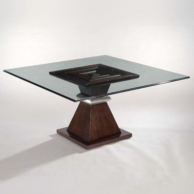 Square Glass Top Dining Table Dining Tables