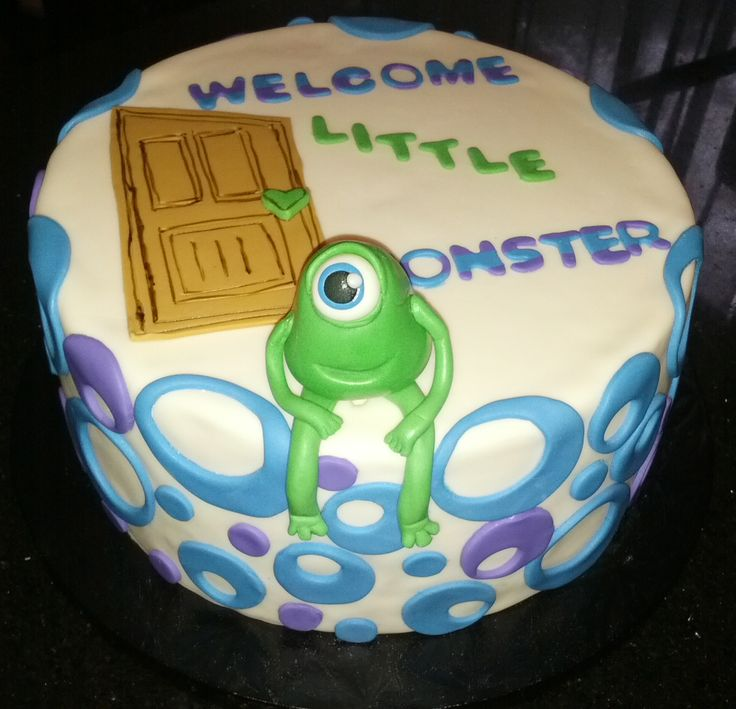 monsters baby shower cake cake theme cakes by me pinterest