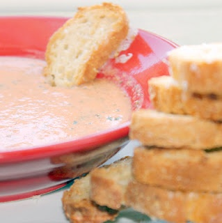 Tomato Basil Soup with Asiago Toast | Recipes I want to try | Pintere ...