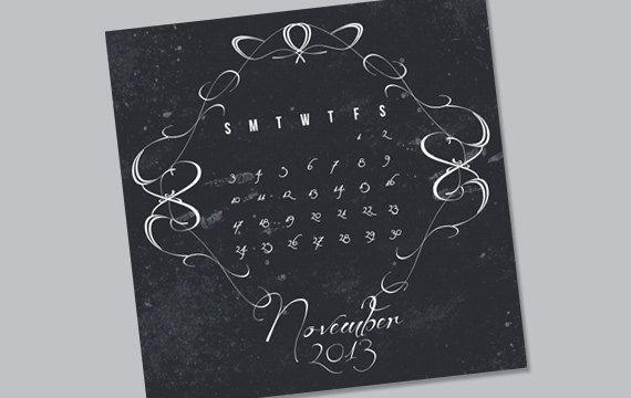 Paris Theme Calendar - November 2013 - Print ready custom design