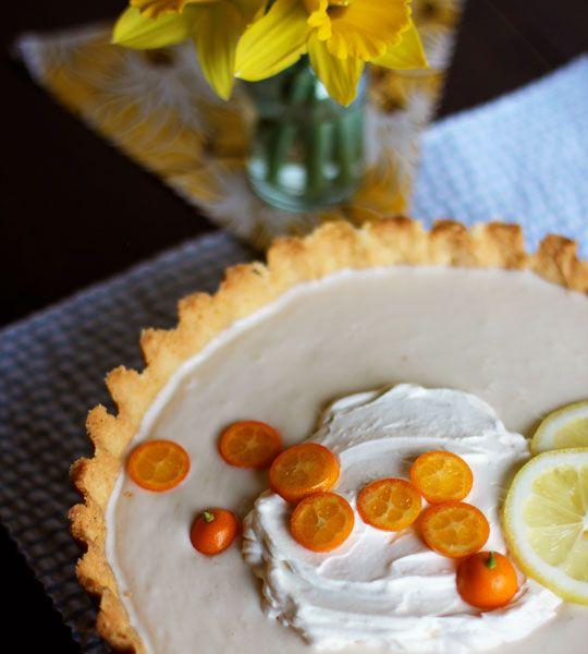 Lemon-Yogurt Icebox Tart has a filling made of greek yogurt, lemon ...