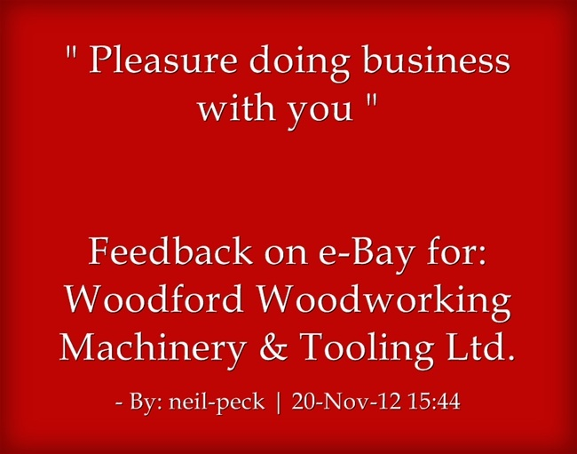 Pin by Woodford Woodworking Tools and Machines UK. on Feedback for wo ...