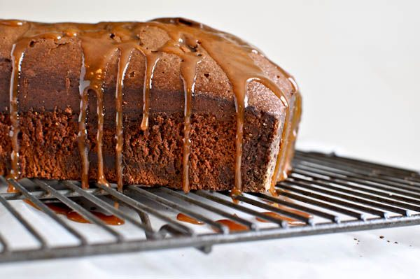 ... night date: salted caramel drenched double chocolate loaf cake