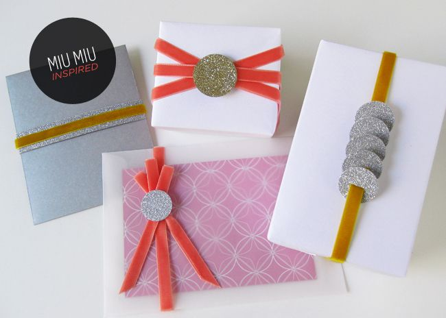 Miu Miu Style Wrapping + DIY Glitter Labels